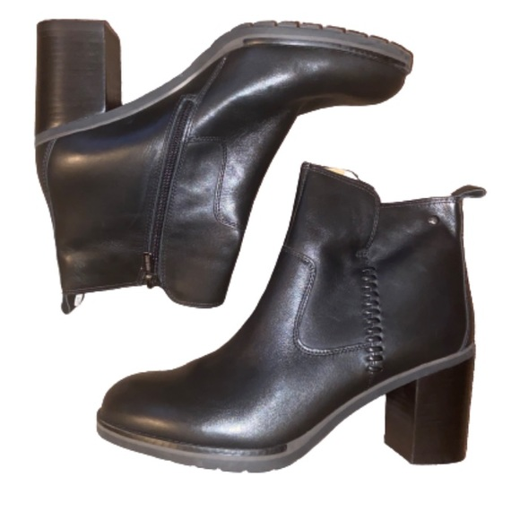 Pikolinos Black Leather Ankle Boots Zip Side 42